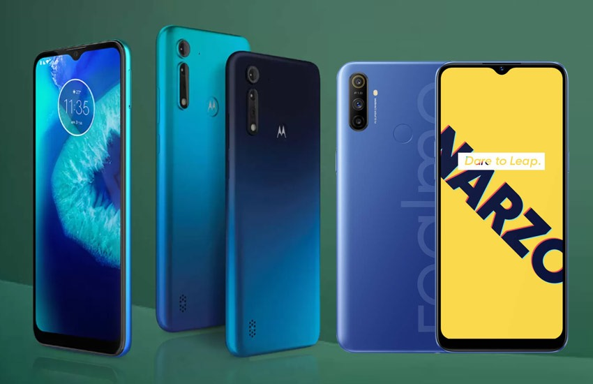 Moto G8 Power Lite vs Realme Narzo 10A comparison of moto g8 power lite price, realme mobile price, flipkart, smartphones under 10000 - Moto G8 Power Lite vs Realme Narzo 10A: Which phone is more powerful with 5,000 mAh battery, know