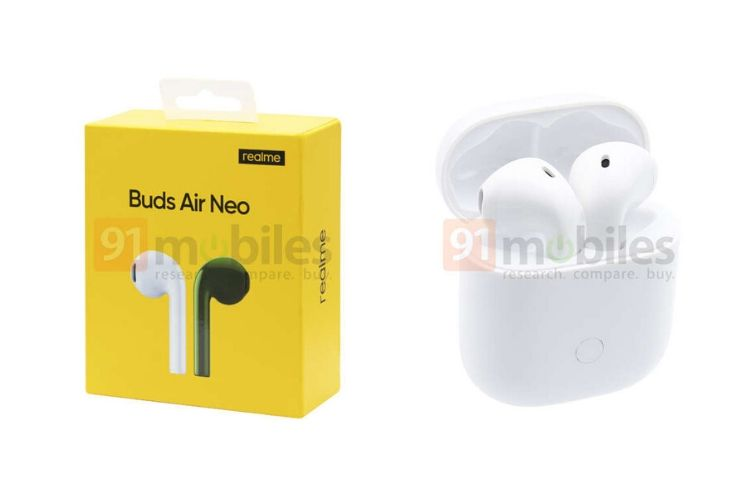 Realme Buds Air Neo Design and Specs Leaked Ahead of Expected May 25 Launch