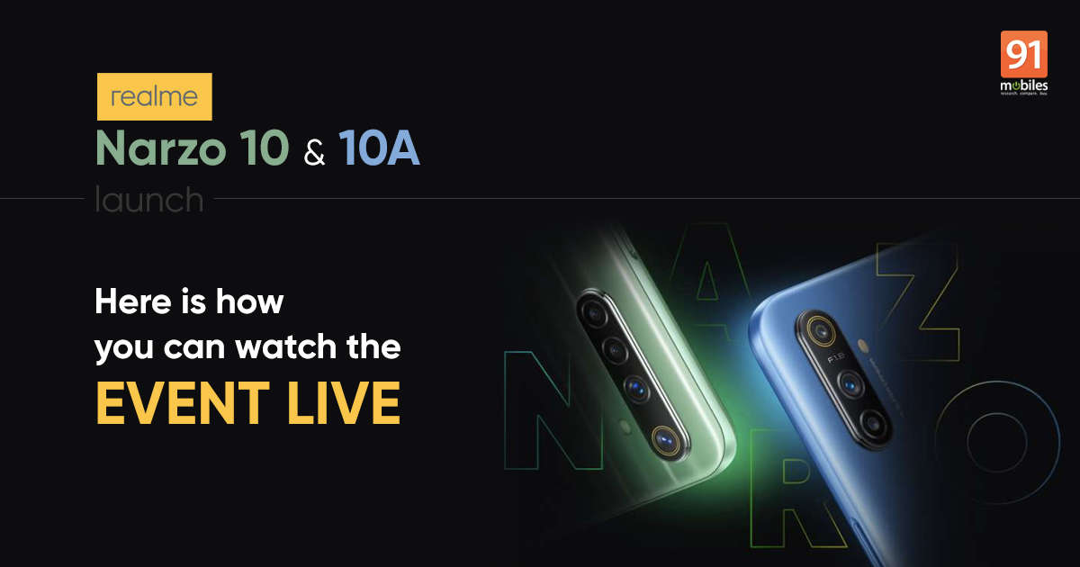 Realme Narzo 10 and Narzo 10A launch: how to watch live stream