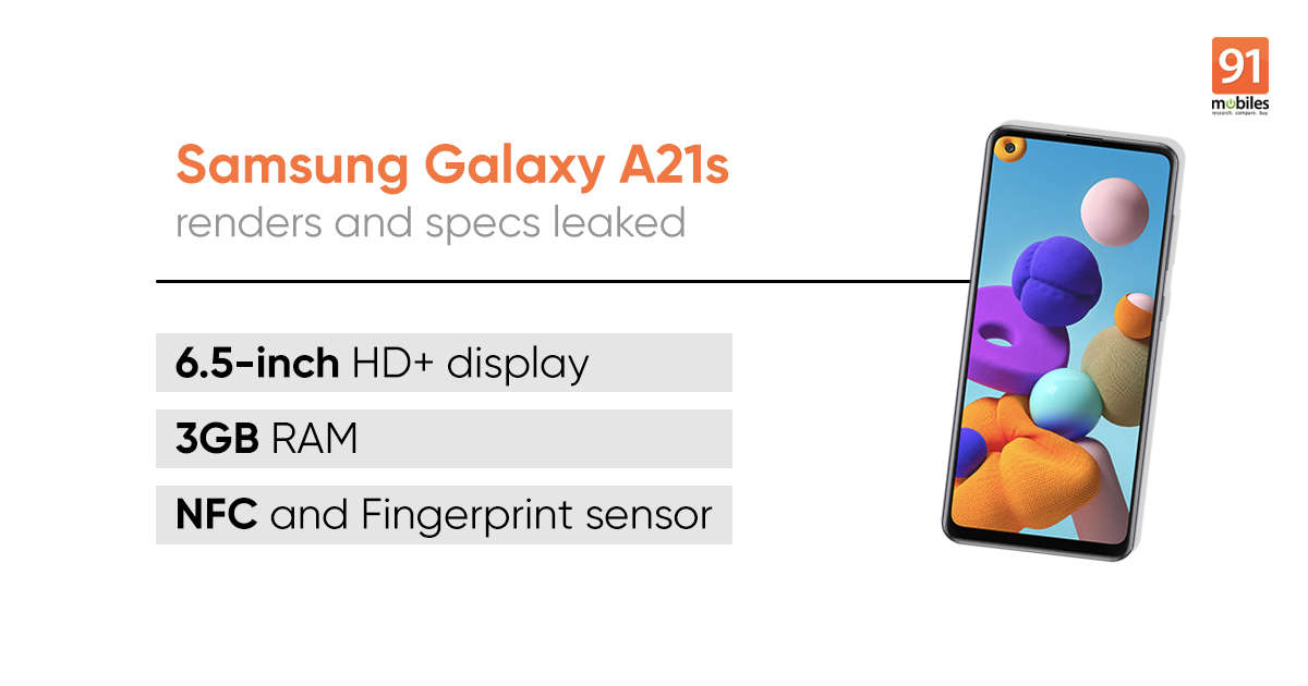 Samsung Galaxy A21s specifications and design revealed once again