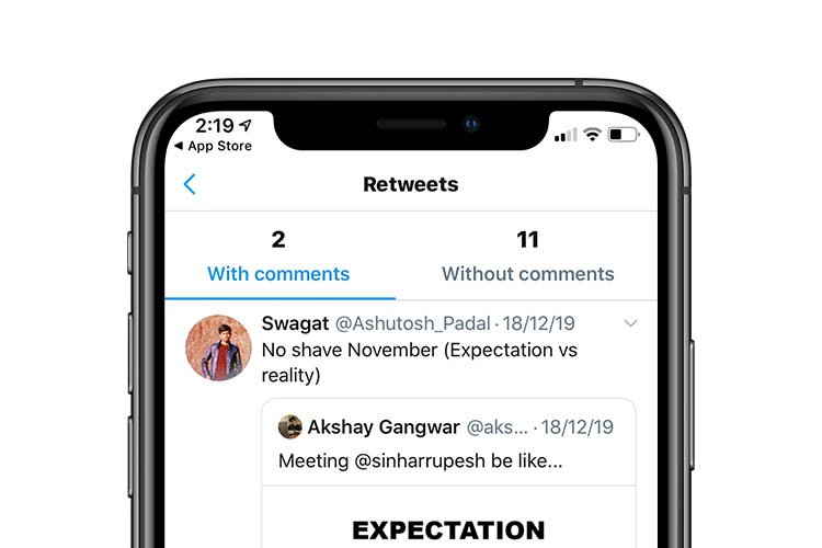 Twitter Rolls out Quoted Retweet Counts on iOS