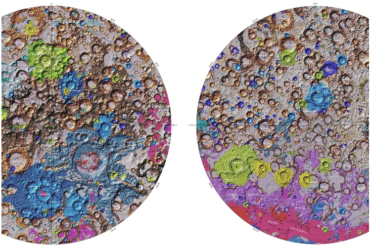 USGS Releases First Comprehensive Geological Map of the Moon