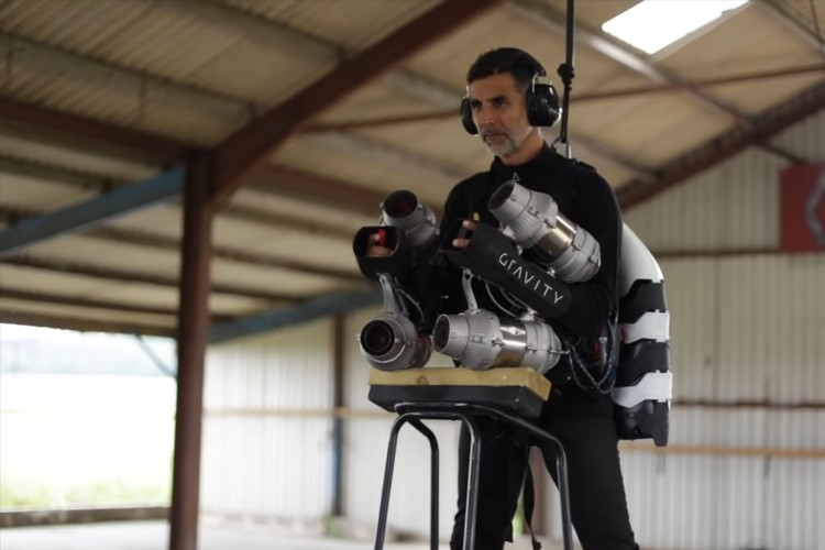 Video Shows Bollywood Superstar Akshay Kumar Learning to Fly a Jet Suit