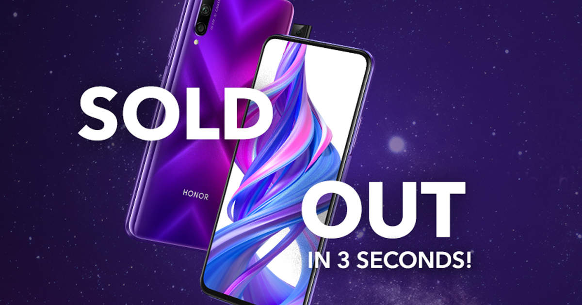 honor 9x pro flipkart: this Honor smartphone flared, stock finished in 3 seconds - honor 9x pro smartphone sold out in just 3 seconds on flipkart sale