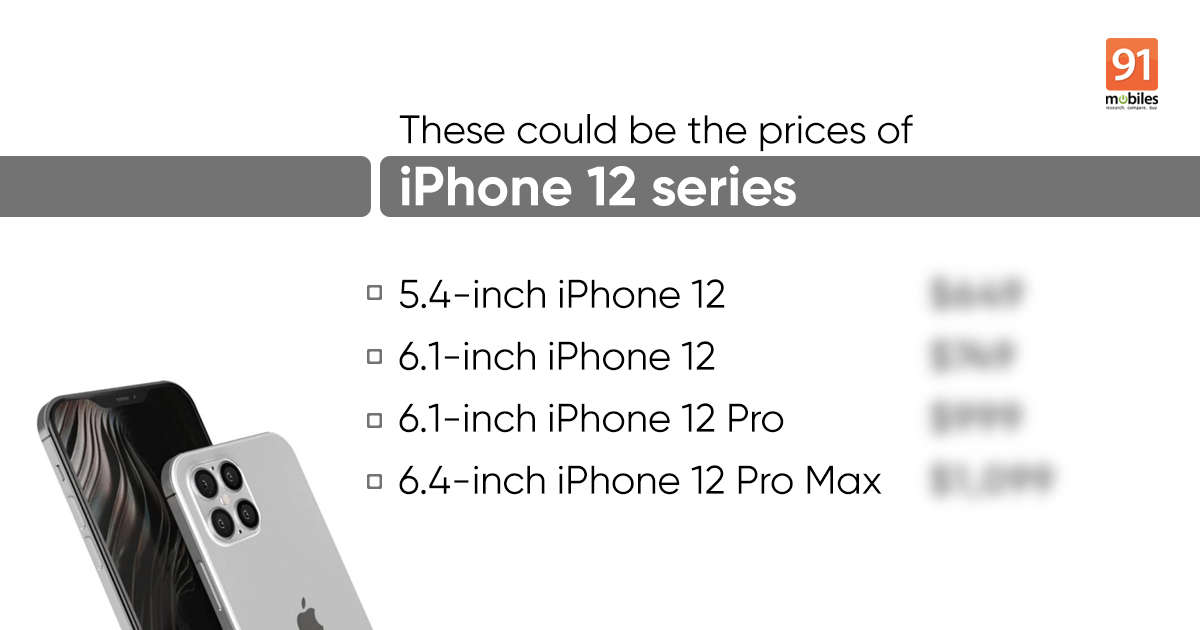 iPhone 12 series prices leaked; to start at $649 for 5.4-inch OLED 5G model