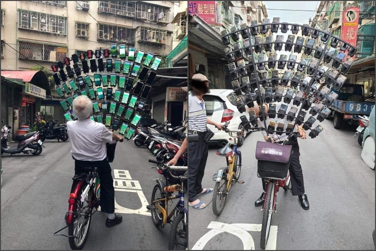 """""""Uncle Pokemon"""" From Taiwan Plays Pokemon GO With 64 Smartphones"""