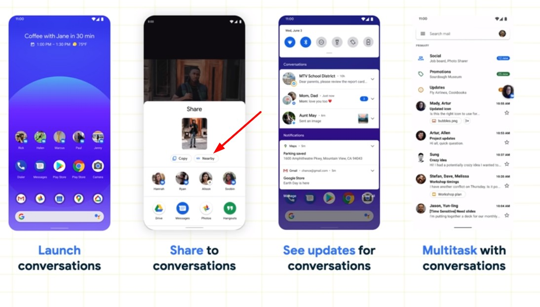 Android 11 renders show 'Nearby' sharing feature may finally be coming