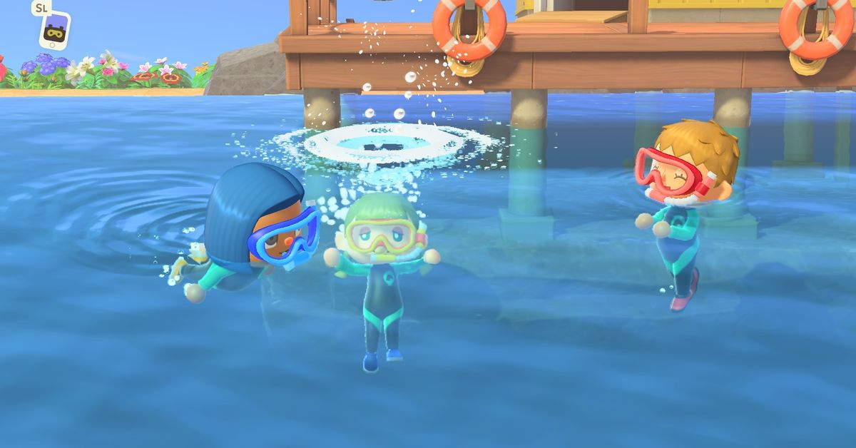 Animal Crossing: New Horizons update: swimming, diving, Pascal, and new DIY recipes coming