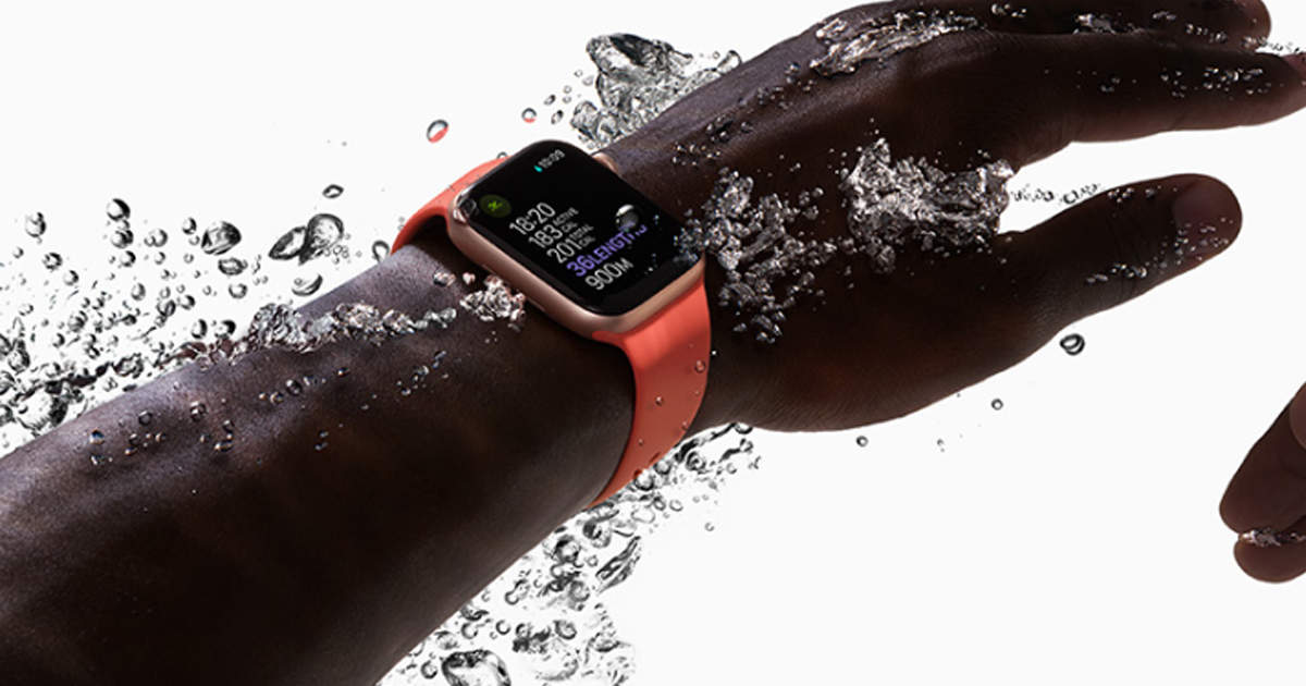 Apple Watch's awesome, water comes out like this, watch video - how apple watch 5 ejects water in slow motion