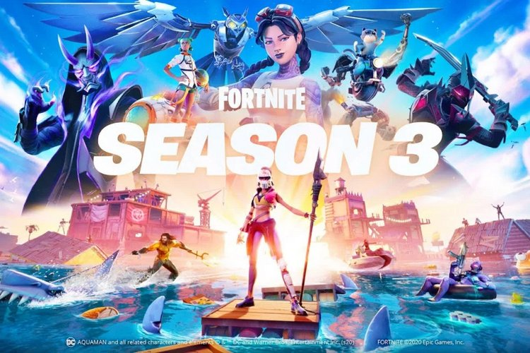 Fortnite Season 3 Brings Flooded Map, Aquaman, Sharks and More