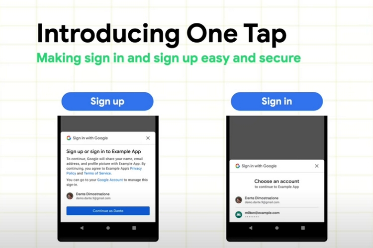 Google Details One Tap and Block Store for Seamless Logins