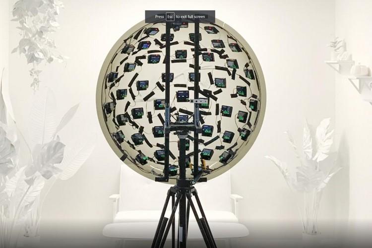 "Google's ""Light Field VR Videos"" Are Captured Using a 46-Camera Rig"