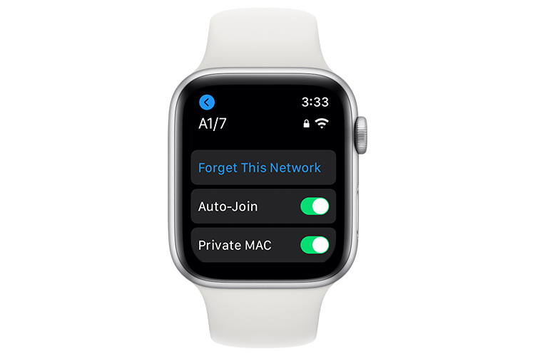 How to Enable/Disable Private MAC Address in watchOS 7