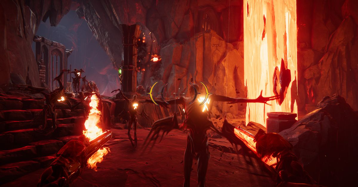 Metal: Hellsinger is a heavy metal rhythm shooter from The Outsiders