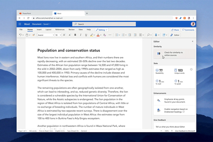 Microsoft Word Gets Plagiarism-Checking Tool From Microsoft Editor