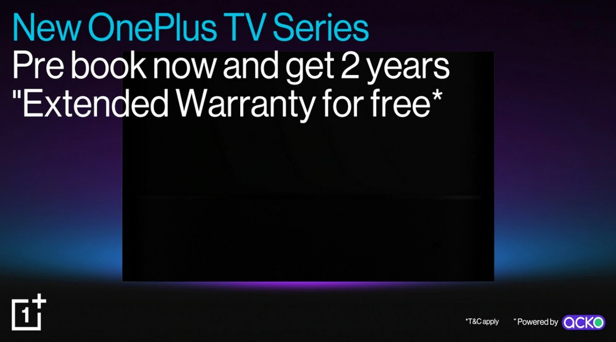 OnePlus TV 2020 already up for pre-bookings in India with extended warranty offer