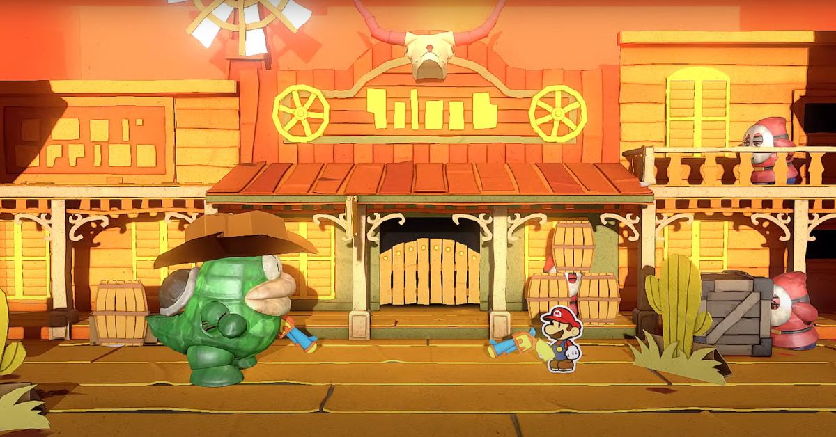 Paper Mario: The Origami King battle system, companions detailed in new video