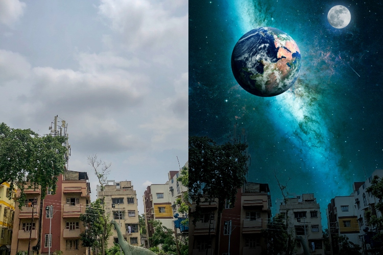 Photoshop Camera App Brings Earth and Moon Right Above Your House