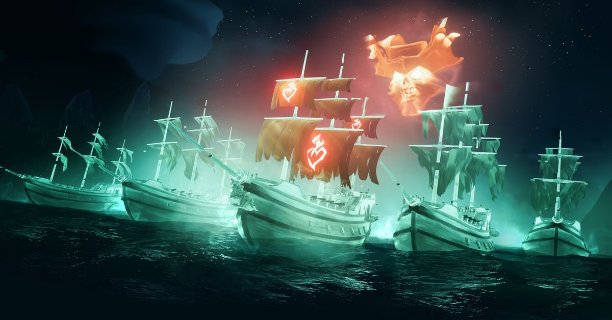Sea of Thieves gets a new ship boss battle in Haunted Shores