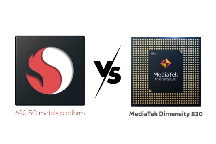 Snapdragon 690 5G vs MediaTek Dimensity 820: The Mid-range 5G Chipset War