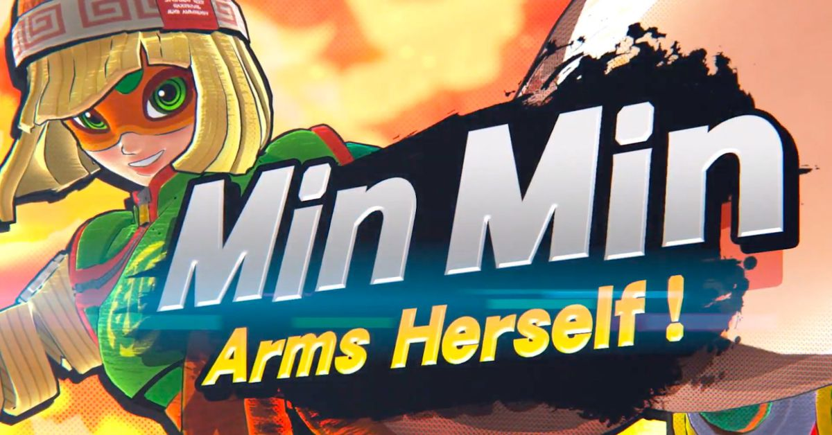 Super Smash Bros. Ultimate's next fighter is Min Min from Arms