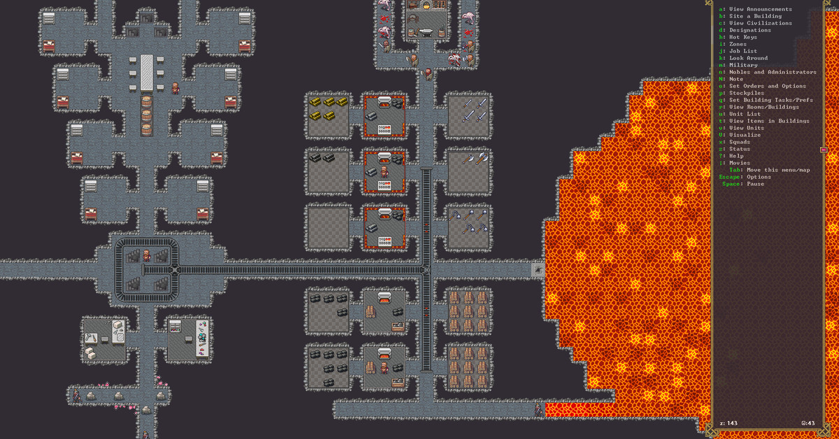 Watch the new Dwarf Fortress Steam trailer, including graphics and animations