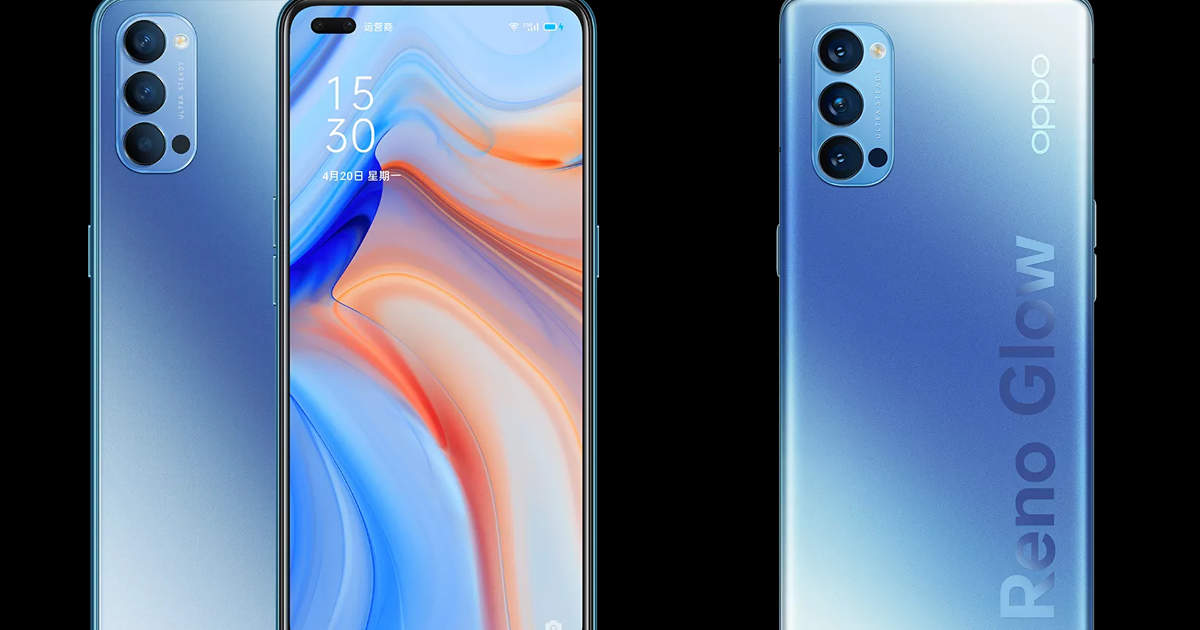 reno4 pro: Oppo launches two smart phones, powerful camera and 65W fast charging - oppo reno4 and reno4 pro launched with 65w fast charging