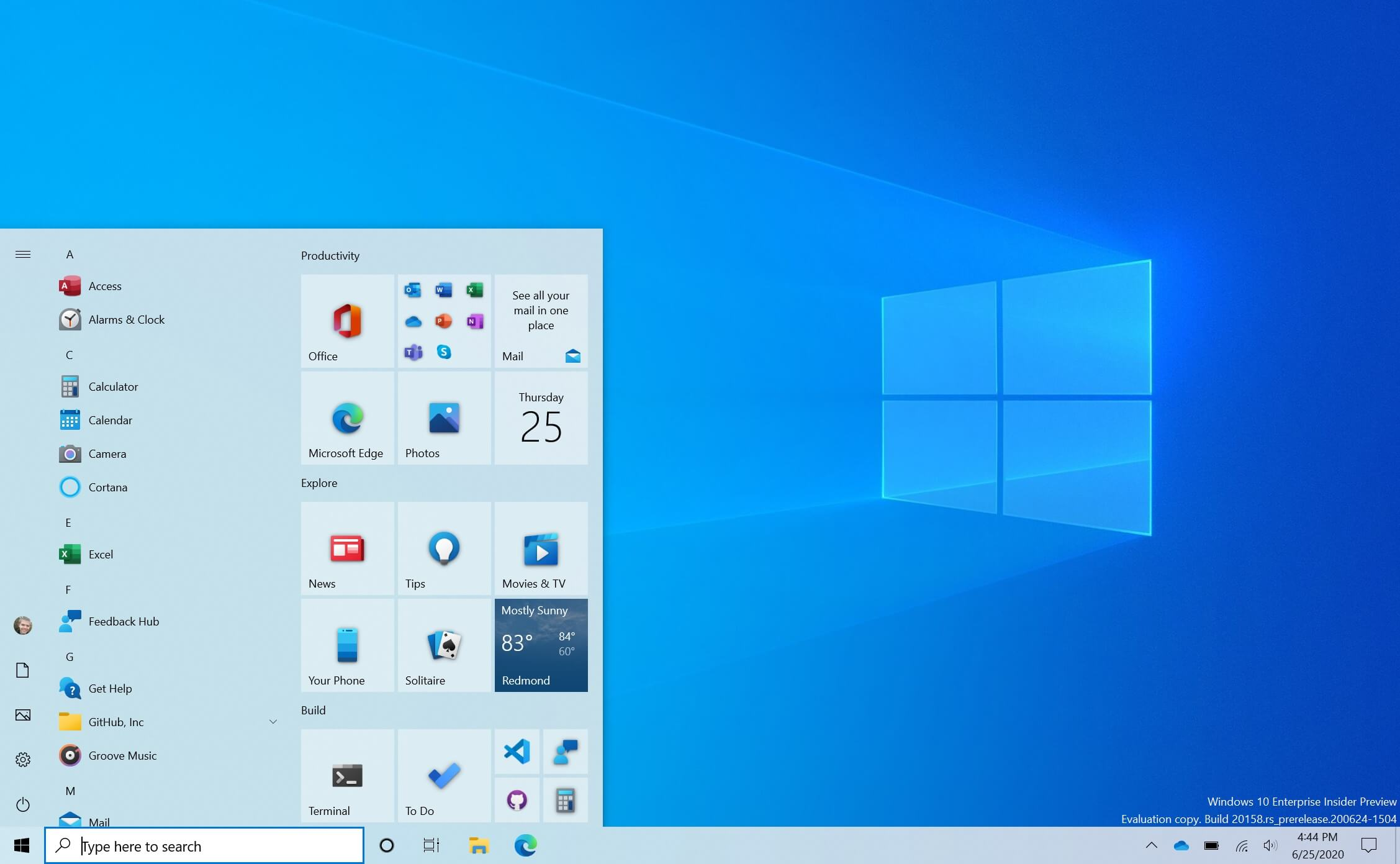 A closer look at Windows 10's new Start Menu design