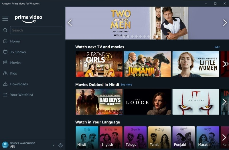 Amazon Prime Video Windows 10 app is here with offline download support