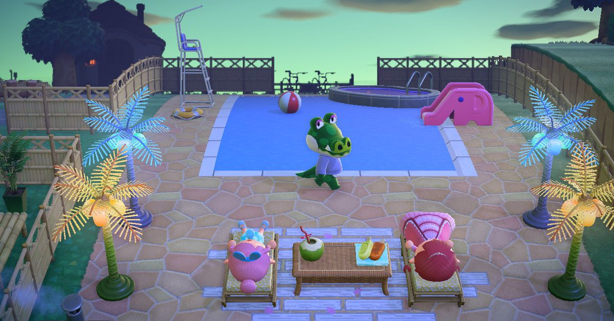 Animal Crossing: New Horizons players are creating clever pool setups