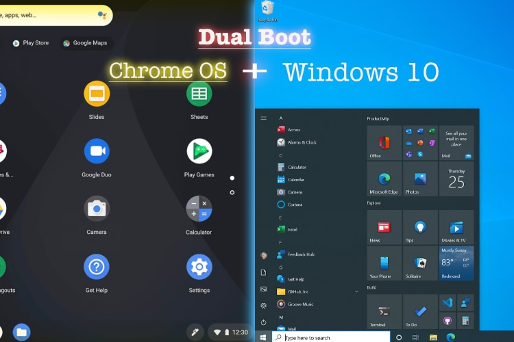 How to Dual Boot Chrome OS and Windows 10 [Supports Play Store]