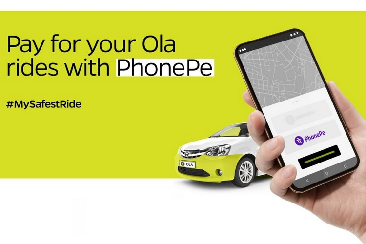 Ola Users Can Now Use PhonePe for Paying Rides