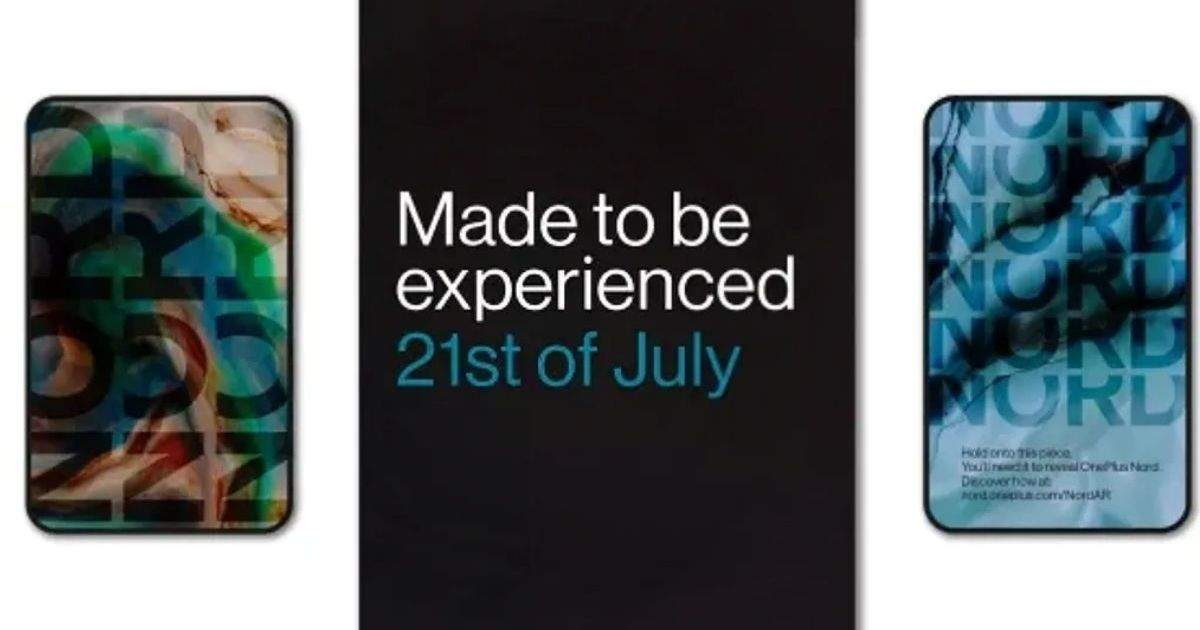 OnePlus Nord smartphone coming to India on July 21