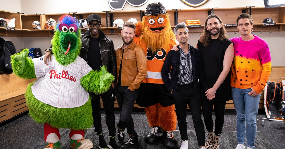Queer Eye's Fab Five make over the infamous Philadelphia mascot Gritty