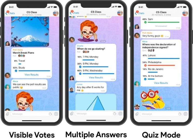 Telegram gets 2GB file sharing, profile videos, skin softener, and more