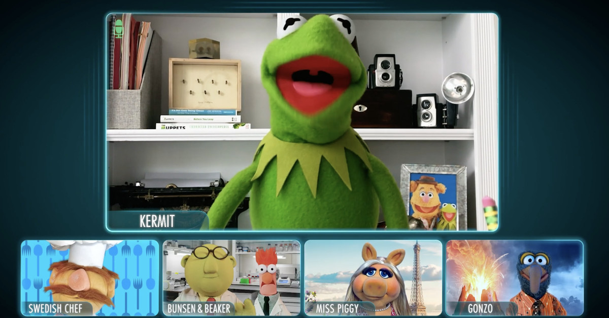 The Muppets meet up over video call to discuss new improv show
