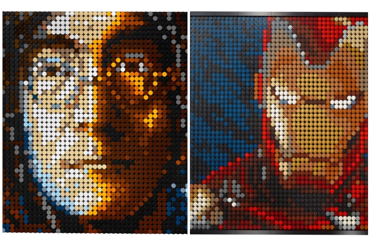 """You Can Build Portraits of Iron Man With the New """"Lego Art"""" Sets"""
