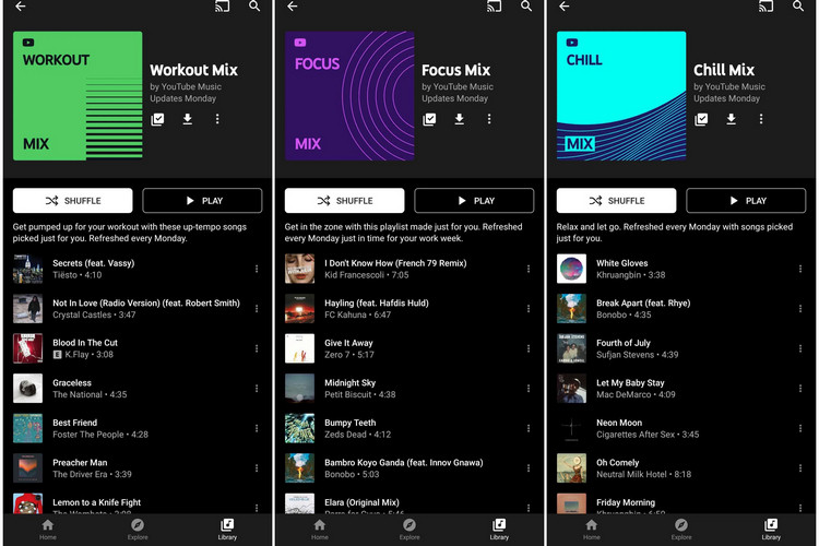 YouTube Music Adds Four New Personalized Mix Playlists