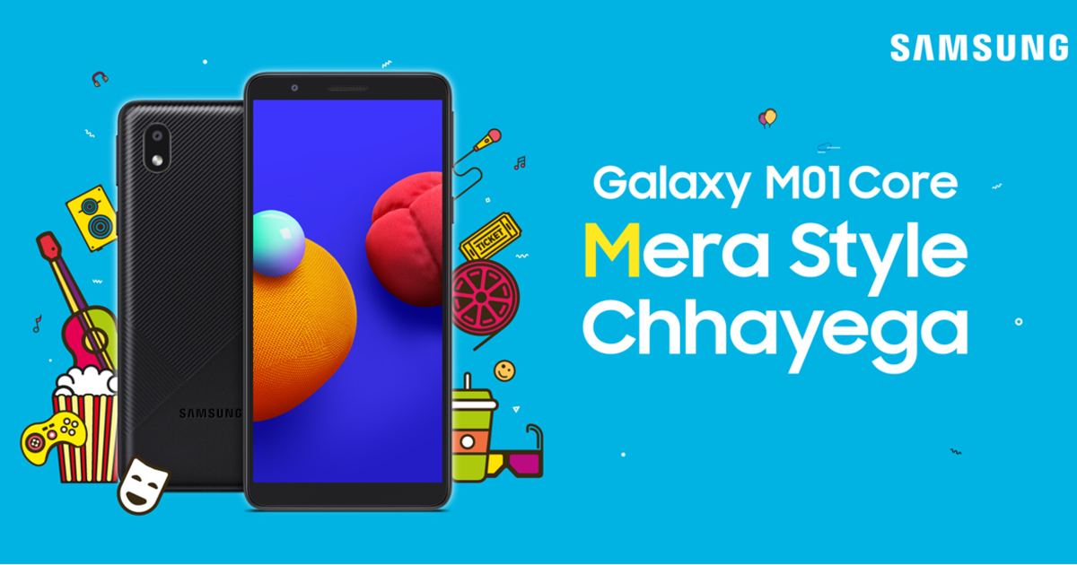 samsung galaxy m01 core price in india: samsung galaxy m01 core launched in india, price less than 7 thousand rupees - samsung galaxy m01 core with android go launched in india know price specifications