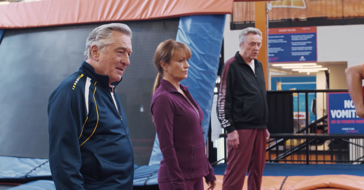 Christopher Walken hoverboards in the trailer for The War With Grandpa
