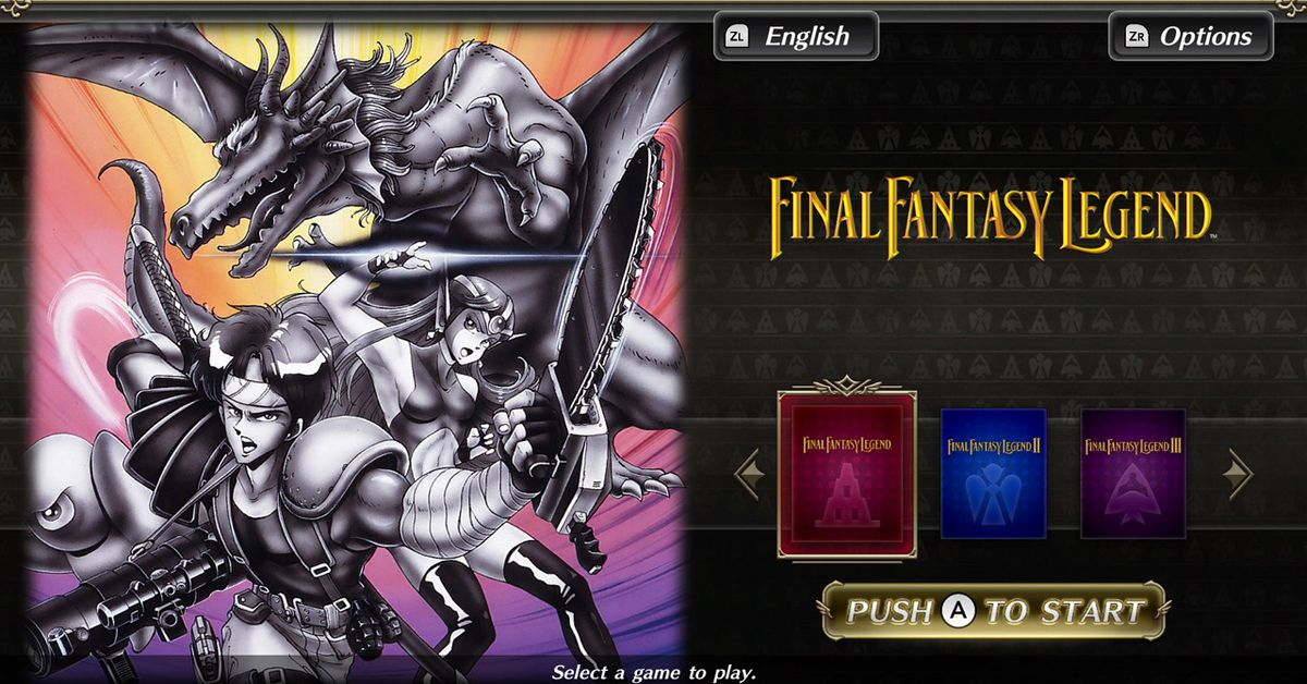 Collection of SaGa Final Fantasy Legend coming to Nintendo Switch