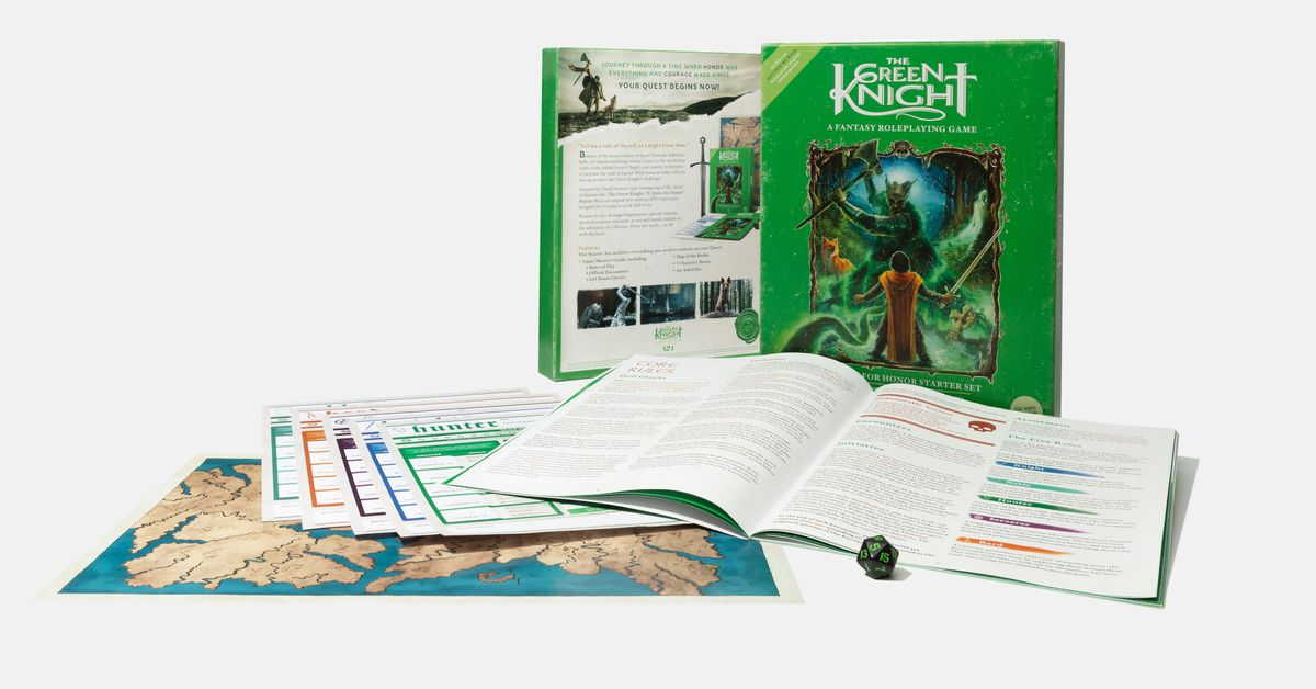 Fantasy film The Green Knight has its own tabletop RPG, and it's not bad