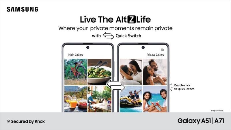 Galaxy A71, Galaxy A51 receive AltZLife privacy mode
