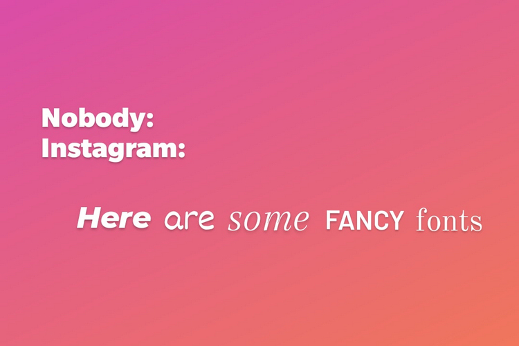Instagram Rolling out New Fonts on Stories
