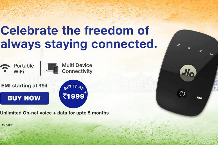 Jio Offering up to 140 Days of Free Data and Voice Calls With JioFi Devices