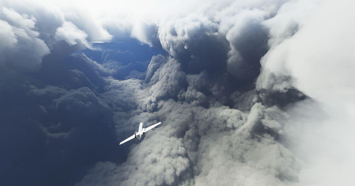 Microsoft Flight Simulator players are chasing Hurricane Laura