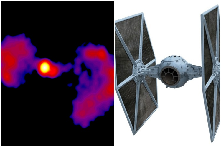 NASA Discovers New Galaxy That Looks Like a TIE Fighter From Star Wars