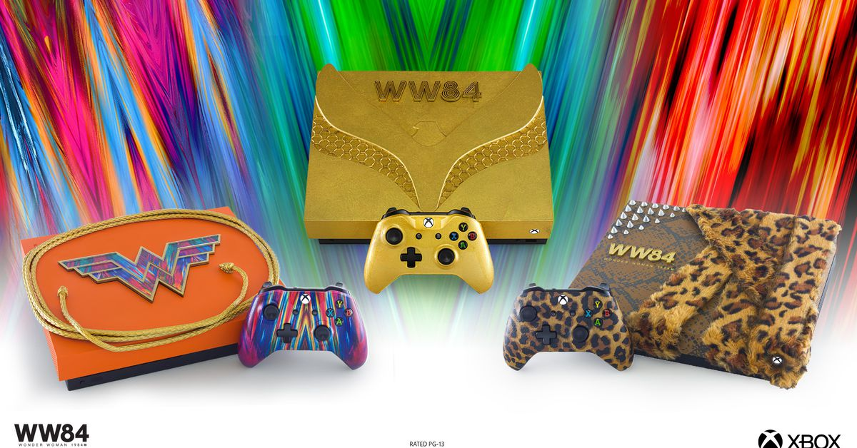 This Wonder Woman 1984 Xbox comes with its own fur coat
