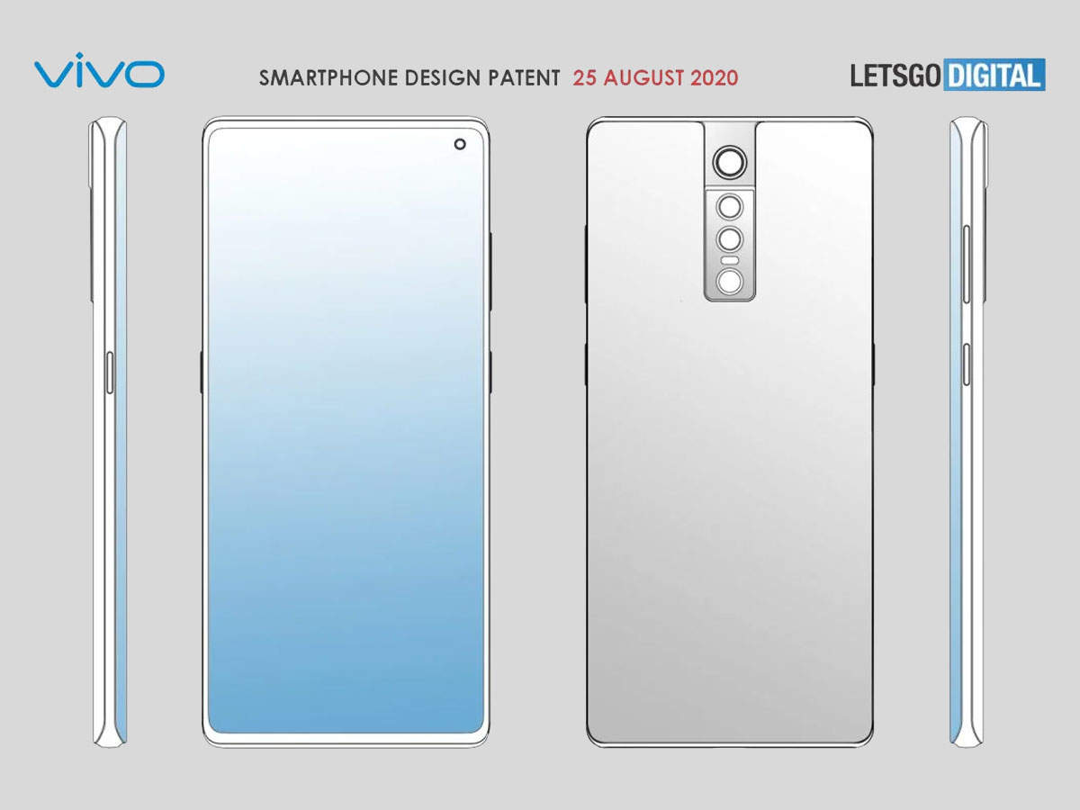 Vivo smartphone: Vivo's new flagship phone will have four rear cameras and curved edge display, launch soon - vivo patent new flagship smartphone with quad rear camera and curved edge display