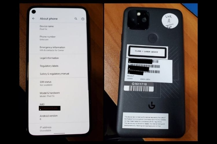 Alleged Google Pixel 5s Shows up in Leaked Real-Life Images